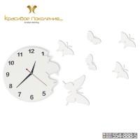Настенные часы Бабочки XL (N010)