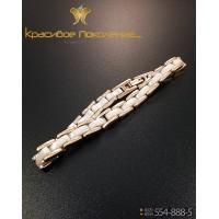 Браслет унисекс из вольфрама с керамическими вставками CBK017