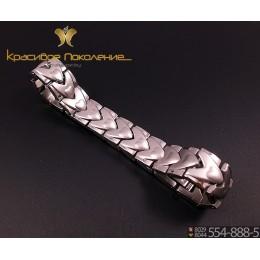 Браслет унисекс из стали с биомагнитами CBK090