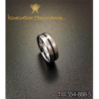 Кольцо мужское из вольфрама CRK001