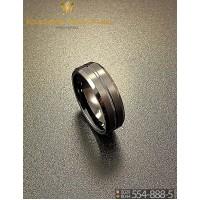 Кольцо мужское из вольфрама CRK008