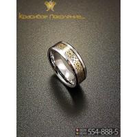 Кольцо мужское из вольфрама CRK010