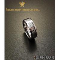 Кольцо мужское из вольфрама CRK011
