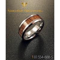 Кольцо мужское из вольфрама CRK018