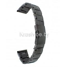 Браслет металлический для часов 18 мм N412-18Black