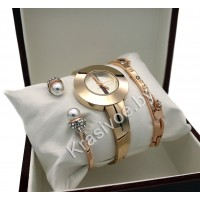 Женские наручные часы GUCCI и два металлических браслета CWC292