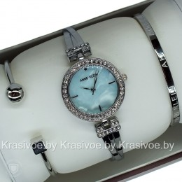 Комплект! Женские наручные часы Anne Klein + два браслета CWC087