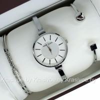 Комплект! Женские наручные часы Anne Klein + два браслета CWC226