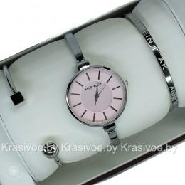 Комплект! Женские наручные часы Anne Klein + два браслета CWC425
