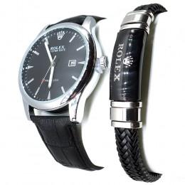 Комплект! Мужские наручные часы Rolex + браслет CWC431