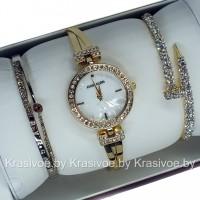 Комплект! Женские наручные часы Anne Klein + два браслета CWC508