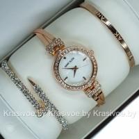 Комплект! Женские наручные часы Anne Klein + два браслета CWC690