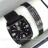 Комплект! Мужские наручные часы TAG Heuer + браслет CWC726