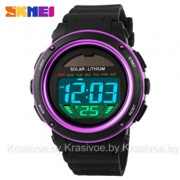 Спортивные наручные часы с солнечной батареей Skmei 1096-3 (оригинал)