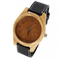 Наручные часы из ясеня с кожаным ремешком ручной работы от Remen (№2)