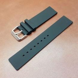 Ремешок каучуковый черного цвета для часов 18 мм BC101-18