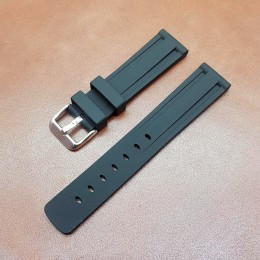 Ремешок каучуковый черного цвета для часов 18 мм BC108-18