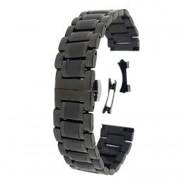 Браслет черного цвета металлический для часов 20 мм CRW381-20