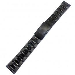 Браслет металлический черный для часов 20 мм N411-20Black