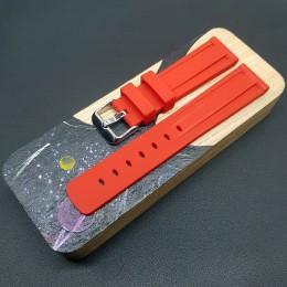 Ремешок каучуковый красного цвета для часов 20 мм BC108-20-Red