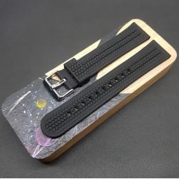 Ремешок каучуковый черного цвета для часов 22 мм BC126-22