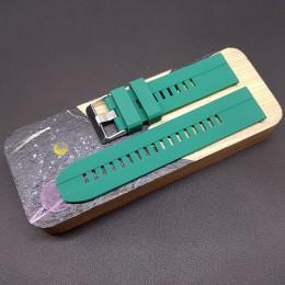 Ремешок каучуковый зеленого цвета для часов 22 мм CRW397-22