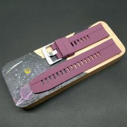 Ремешок каучуковый фиолетового цвета для часов 22 мм CRW398-22