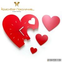 Настенные часы Сердце (N074)
