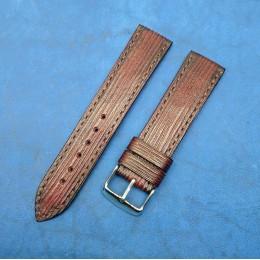 Авторский кожаный ремешок ручной работы для часов 22 мм M075-22