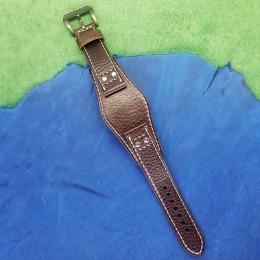 Авторский кожаный ремешок ручной работы для часов FOSSIL 22 мм M089-22