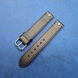 Кожаный ремешок ручной работы для часов 18 мм M108-18