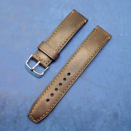 Авторский кожаный ремешок ручной работы для часов 20 мм M120-20