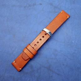 Авторский кожаный ремешок ручной работы для часов 22 мм M123-22