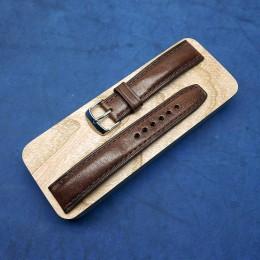 Авторский кожаный ремешок ручной работы для часов 24 мм M125-24