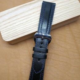 Авторский кожаный ремешок ручной работы для часов 24 мм M131-24
