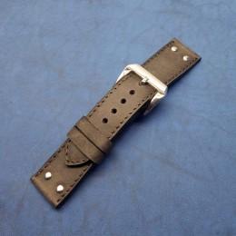 Кожаный ремешок ручной работы для часов 24 мм M138-24