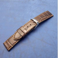 Кожаный ремешок ручной работы для часов 22 мм M139-22