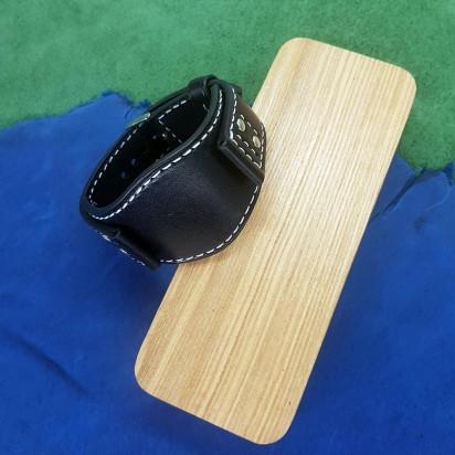 Авторский кожаный ремешок ручной работы для часов FOSSIL 22 мм M174-22