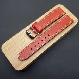Кожаный ремешок Remenmaster красного цвета для часов 20 мм M177-20
