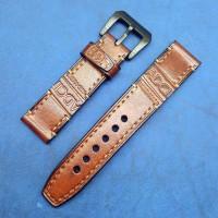 Авторский кожаный ремешок ручной работы для часов 22 мм M142-22