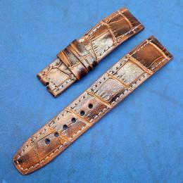 Авторский кожаный ремешок ручной работы для часов 22 мм M143-22