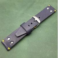 Кожаный ремешок ручной работы для часов 22 мм M156-22