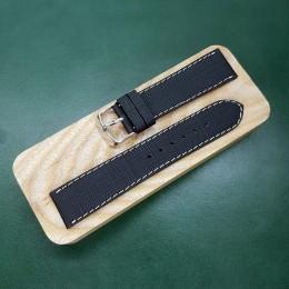 Кожаный ремешок RemenMaster черного цвета для часов 22 мм M162-22