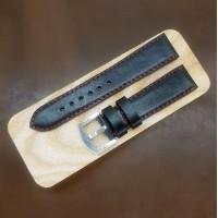 Кожаный ремешок RemenMaster черного цвета для часов 22 мм M168-22