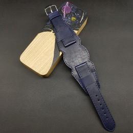 Ремешок с базой для наручных часов. Натуральная кожа. Производитель Remenmaster 20 мм M197-20