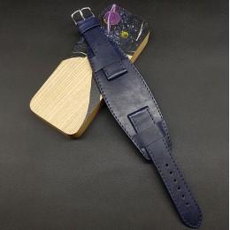 Ремешок с базой для наручных часов. Натуральная кожа. Производитель Remenmaster 20 мм M198-20