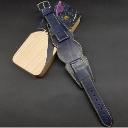 Ремешок с базой для наручных часов. Натуральная кожа. Производитель Remenmaster 20 мм M200-20