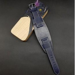 Ремешок с базой для наручных часов. Натуральная кожа. Производитель Remenmaster 20 мм M201-20