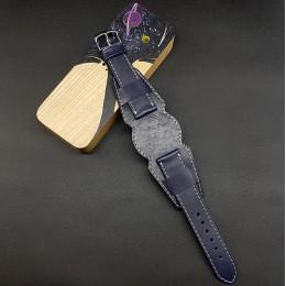Ремешок с базой для наручных часов. Натуральная кожа. Производитель Remenmaster 20 мм M202-20