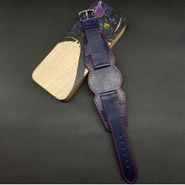 Ремешок с базой для наручных часов. Натуральная кожа. Производитель Remenmaster 20 мм M203-20